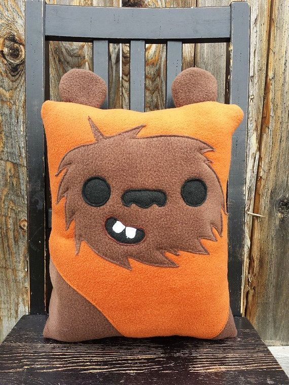 Ewok star wars pillow cushion gift by telahmarie on Etsy | Handmade pillow, art, geek gifts #starWars