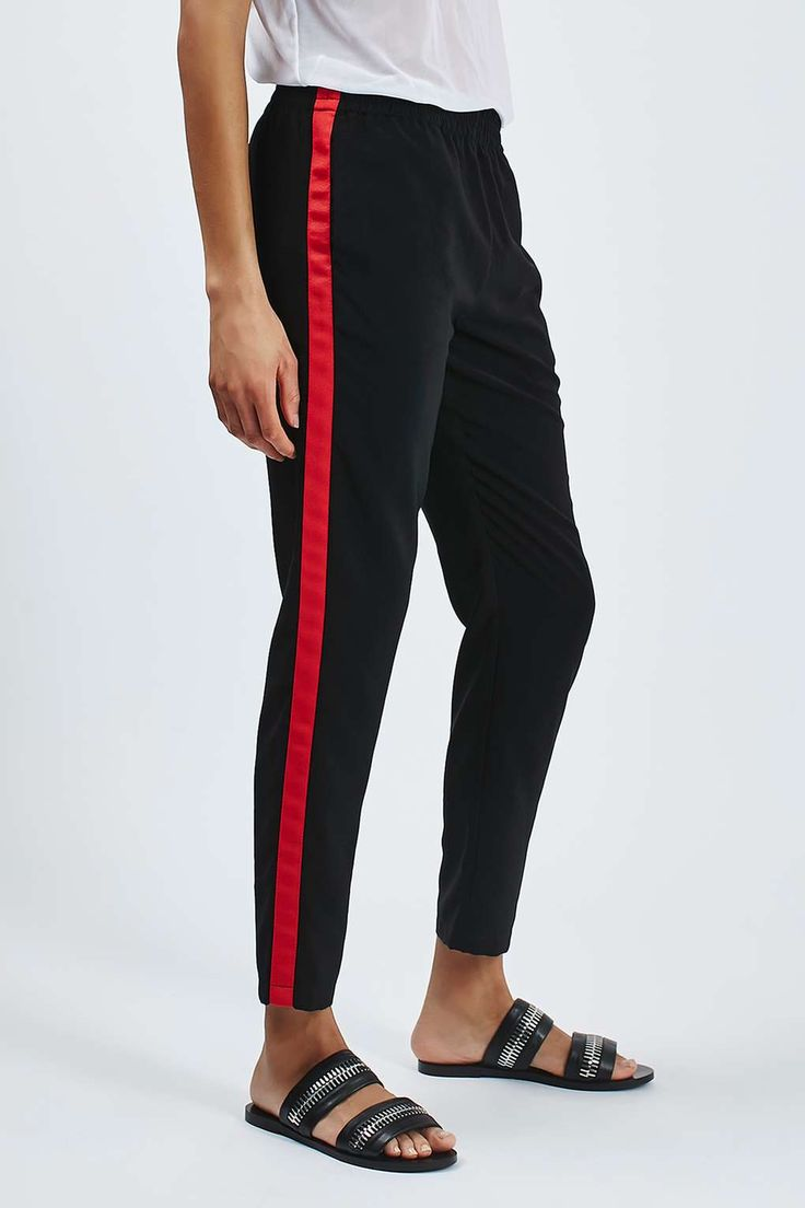 Side Stripe Jogger Side Stripe Trousers Red Stripes