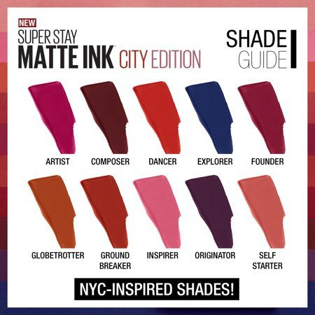 Maybelline Superstay Matte Ink City Edition Swatches Philippines