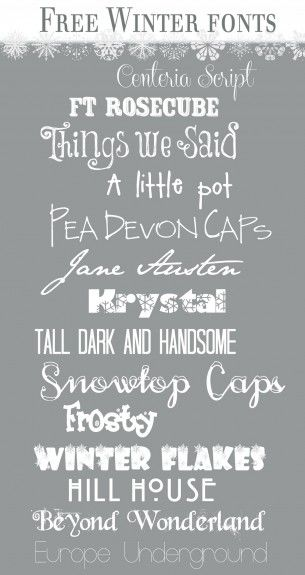 Winter Fonts | Over The Big Moon