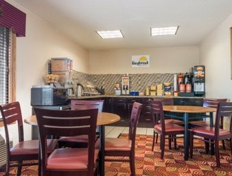 Breakfast Area At The Days Inn Muncie Ball State University In Indiana