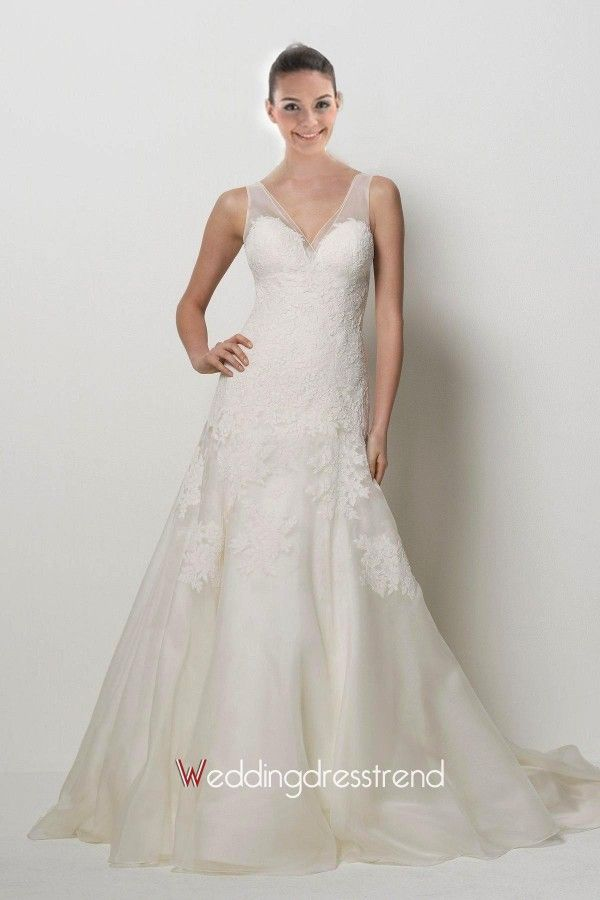 Beautiful Extravagant V-neck Ruched Appliqued Wedding Dress - Cheap Wedding Dresses Wholesale and Retail Online Store