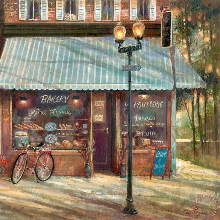 Pastry Shop Painting by Ruane Manning
