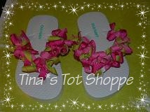 Pink and green korker flip flops $15