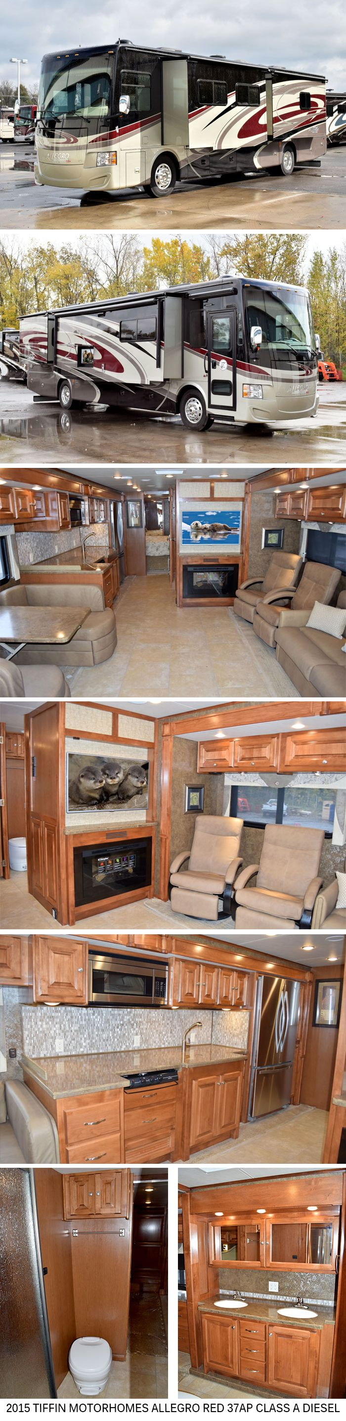 NEW ! 2015 Tiffin Motorhomes Allegro Red 37PA Class A Diesel