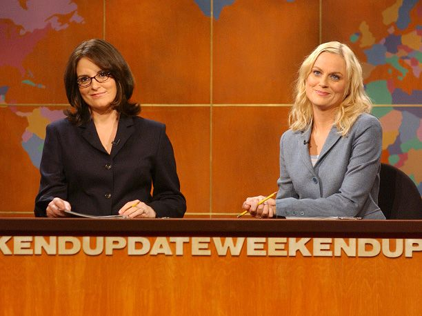 Tina Fey, Amy Poehler, ... | They've been part of our own imaginary gal squad since long before they became the first female co-anchors of SNL 's ''Weekend Update'' in 2004.