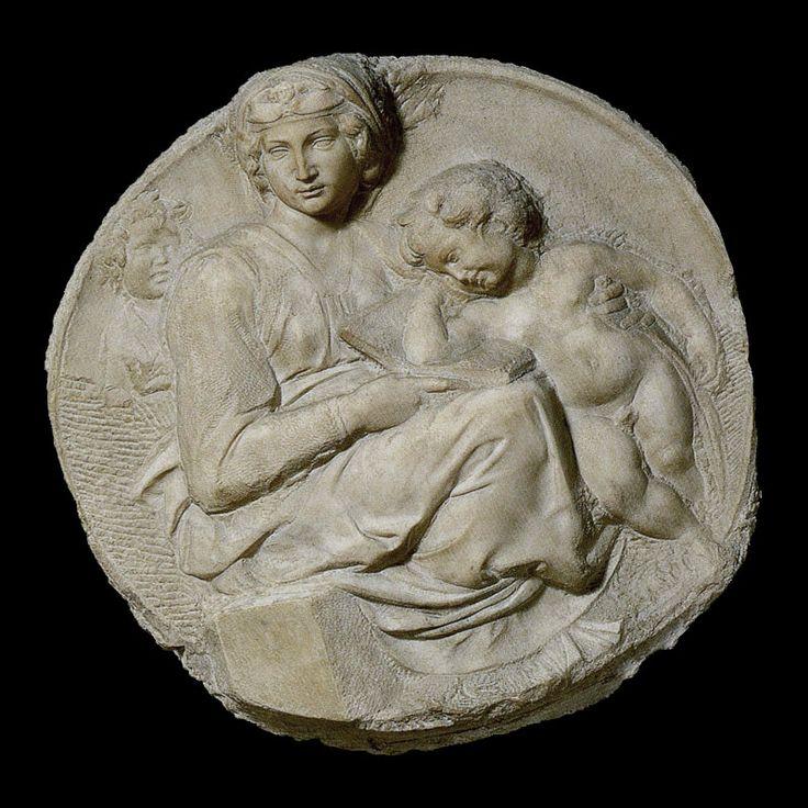 Michelangelo   Tondo Pitti, 1504-1505  Marble - diameter cm 80