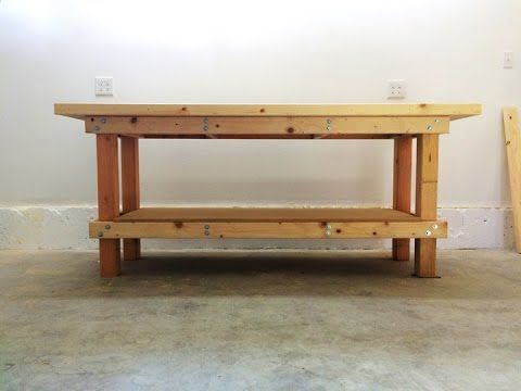 How To Build A Workbench Out Of 2x4 and Plywood - That Folds Up - YouTube   projects   Pinterest ...