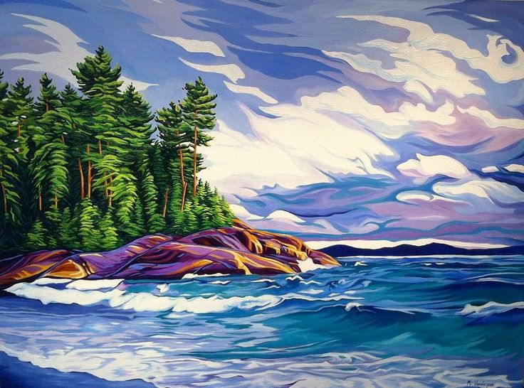 Autumn on Lake Superior, Oil on Canvas, 4ft x 3ft, SOLD