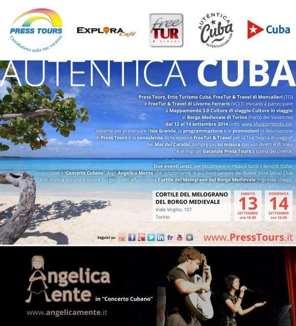 """Press Tours, l'Ente del Turismo di Cuba, FreeTour & Travel di Moncalieri (To) e FreeTour & Travel di Livorno, Vi invitano a Mappamondo 3.0: """"Culture di Viaggio-Culture in Viaggio"""" dal 12 al 14 settembre 2014 a Torino.  - See more at: http://blog.presstours.it/2014/09/02/press-tours-vi-invita-a-mappamondo-3-0-culture-di-viaggio-culture-in-viaggio/#sthash.kQXwTN03.dpuf"""