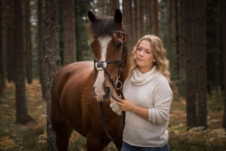 By Swedish photographer Maria Lindberg. Girl with her pony. Horse photo. Horse in forest.