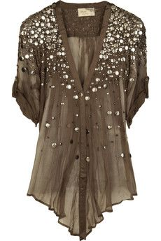 Elizabeth and James Tokyo sequined top
