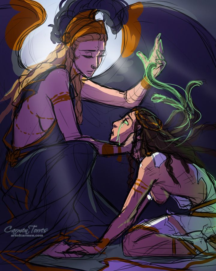 artofcarmen:  A while ago I heard a version of this story where Athena has pity on Medusa and turns her into the gorgon to protect her from all men. A gift instead of a punishment for uncle's crimes. It always stuck with me, so here's a doodle.