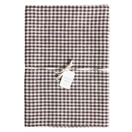Linen Tablecloth Brown + White Check | Fog Linen Work | HORNE | Stock The  Kitchen | Pinterest | Linen Tablecloth, Fog Linen And Linens