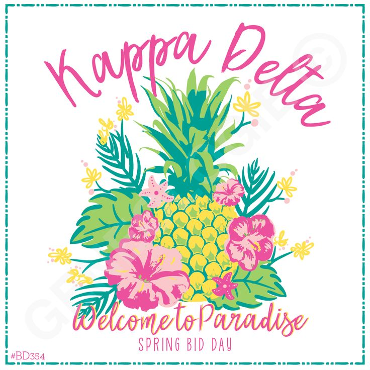 Geneologie | Greek Tee Shirts | Greek Tanks | Custom Apparel Design | Custom Greek Apparel | Sorority Tee Shirts | Sorority Tanks | Sorority Shirt Designs  | Sorority Shirt Ideas | Greek Life | Hand Drawn | Sorority | Sisterhood | Bid Day | Pineapple | Floral | Luau | Kappa Delta | KD | Sorority Name | Slogan | Quote | Paradise | Welcome
