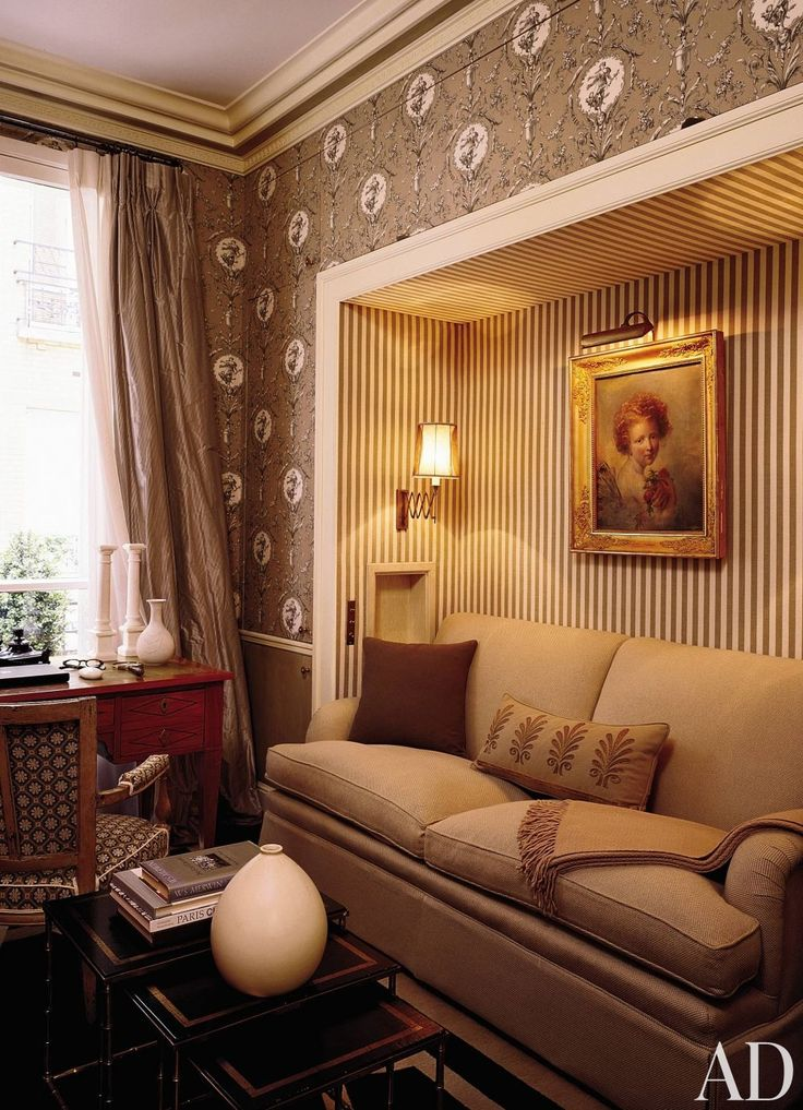 In A Paris Apartment Designer Jean Louis Deniot Turned The Intimate Scale Of Office Into An Asset He Upholstered Walls Le Manachs George Sand