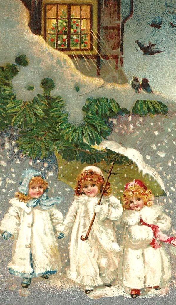 Рождество дети открытки