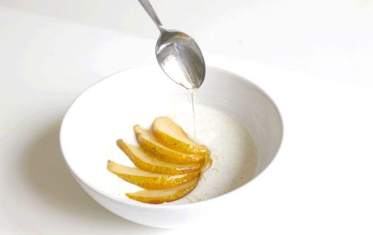 So esse ich: Gesund frühstücken mit Vanille-Leinöl-Quark & Birnen