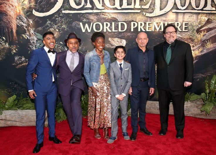 38 of 79 Ben Kingsley, Giancarlo Esposito, Jon Favreau, Lupita Nyong'o, Ritesh Rajan, and Neel Sethi at an event for The Jungle Book