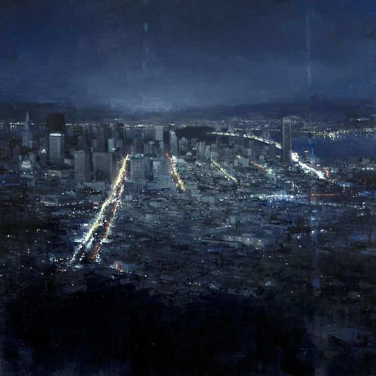 """""""San Francisco"""" - 48 x 48 in. Oil on Panel 2012"""