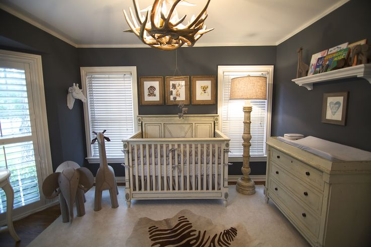 My husband and I knew what we wanted the nursery to look like. One of his favorite places in the world is Africa, so we decided to go with a safari nursery.