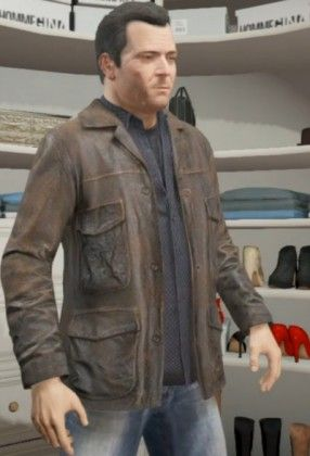 "If the #Celebrity apparel you want, then you shall get as the #Michael GTA 5 #LeatherJacket. This jacket is worn by Michael in the upcoming #Rockstar game #GTA5 . You can get this #MichaelJacket with distressed leather with great #Newyear2014 Offer at "" Hexder.com """