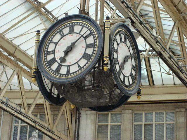 Waterloo Station clock, London.