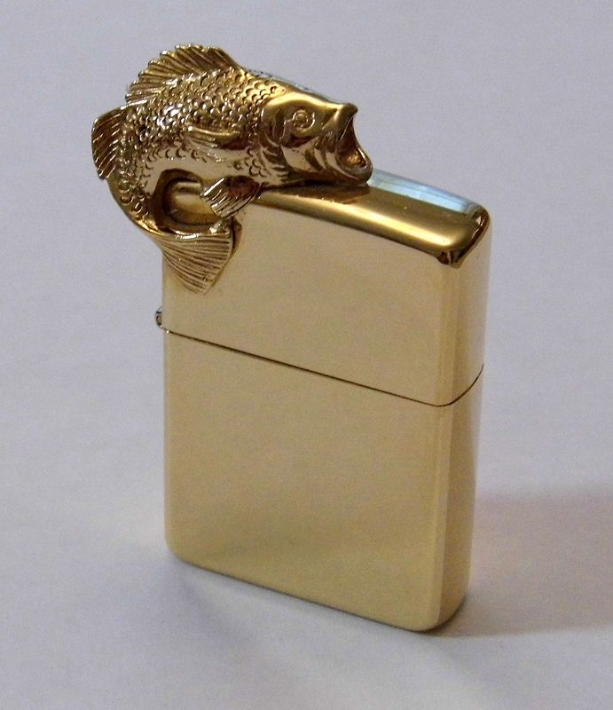 "Vintage Zippo ""Fish"" Cigarette Lighter"