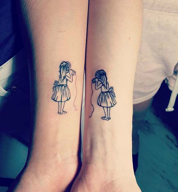 43 Cute Best Friend Tattoos for you and your BFF