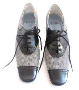 Charles Jourdan Black & White Spectator Shoes