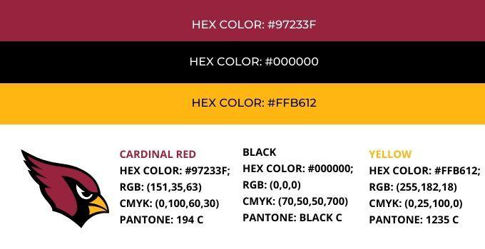 Arizona Cardinals Colors Hex Rgb Cmyk And Pantone In 2020