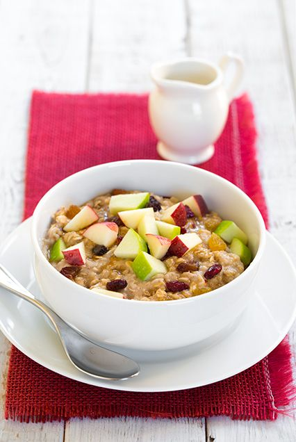 Fall Spiced Apple Cran-Raisin Oatmeal - this oatmeal is 280 calories and it keeps me full until lunch. It's like McDonalds oatmeal but better and it only takes a few minutes to make.