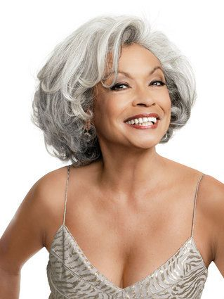 Pictures of beautiful gray hair- May we all look this great when we hit her age. She looks lovely. Great hair! You go grandma!