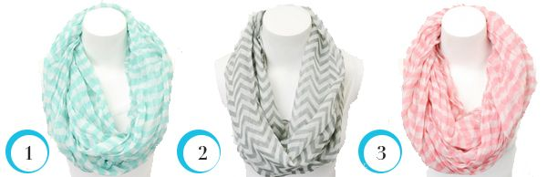 Striped and Chevron Infinity Scarves, Just $4.99 at Very Jane! - The Krazy Coupon Lady