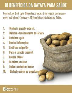 Clique na imagem para ver os 10 benefícios incríveis da batata para saúde…