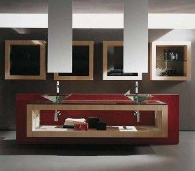 Έπιπλο μπάνιου Ημιμασίφ Δρυς με γωνίες www.koligas.gr