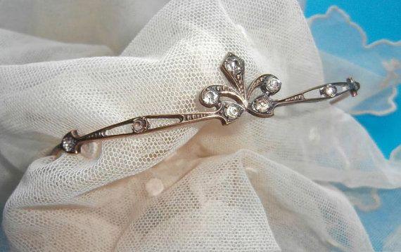 Beautiful Original Vintage Fleur de Lys Tiara par wonderfulstuffuk