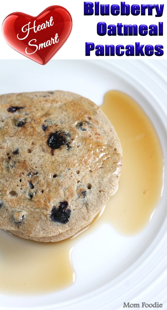 Blueberry Oatmeal Pancakes Recipe (gluten free, low calorie, naturally sweetened) (oatmeal breakfast muffins stevia)