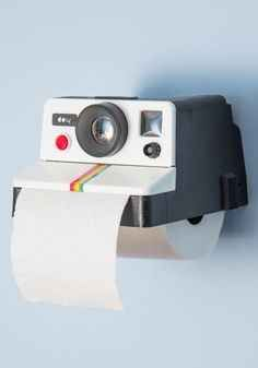 A Toilet Paper Holder That Looks Like A Camera