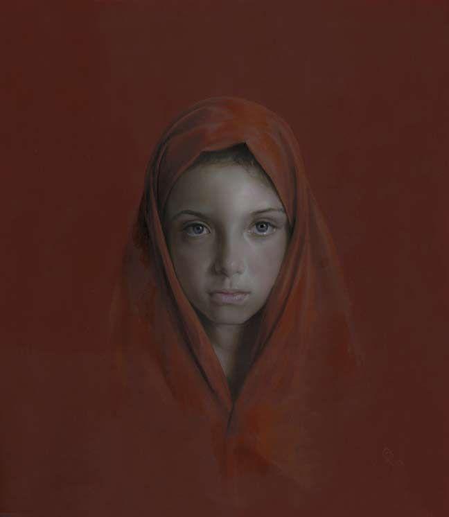 "Oleg Radvan (1955-)  Blue Eyes  oil  -2009  71.12 x 81.28 cm  (28"" x 32"")  Private collection"