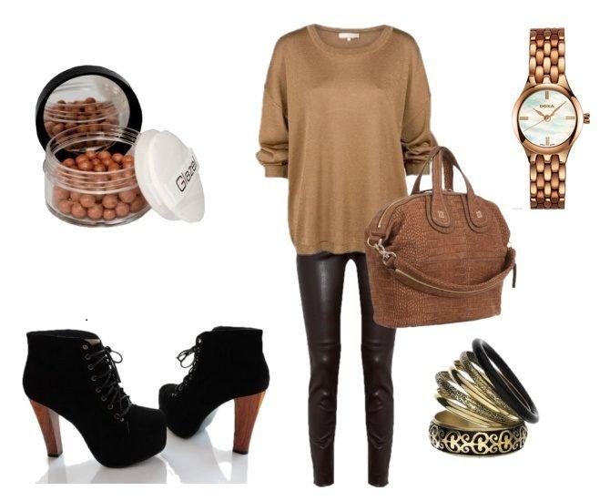 Jesienna stylizacja ! http://luxtime.pl/pl/p/Zegarek-DOXA-CHIC-QUARTZ-254.95.051.17/15278 zakupy  zegarek  zegarki watch watches  moda fashion