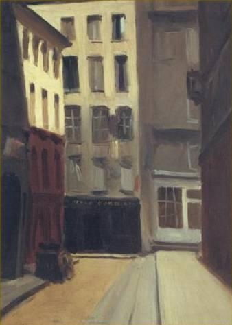 Edward Hopper. Paris Street. 1906. Oil on wood. 13 x 9 3/8 inches. Whitney Museum of American Art, New York, USA.