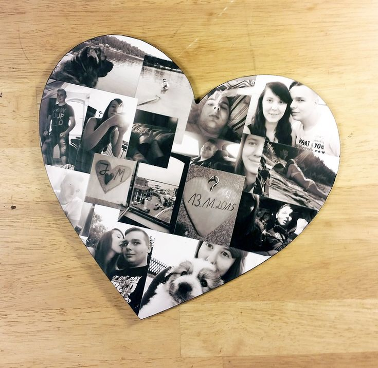 Custom Photo Collage, Heart Shape Photo Collage, Wood Letters, Personal Collage, Photo Collage, Personal Photo Collage, Custom Photo Letters by LybelleCreations on Etsy