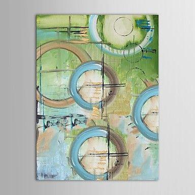 handgeschilderde olieverf acryl art met gestrekte frame – EUR € 60.22