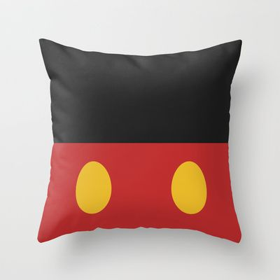 Minimal Mickey Mouse Throw Pillow by Ramin Design Shop - $20.00