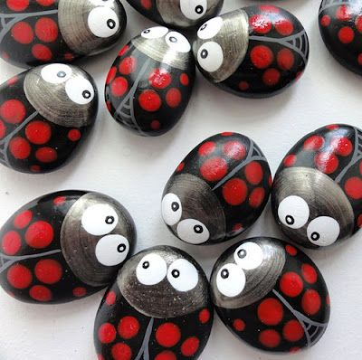 Painted Rock Ladybugs