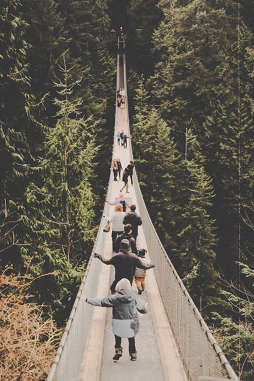 long roadLong Bridges, Adventure, Wanderlust Tumblr, Suspen Bridges, Everyday Photography, Places, Suspension Bridges, Crosses Bridges, Swings Bridges