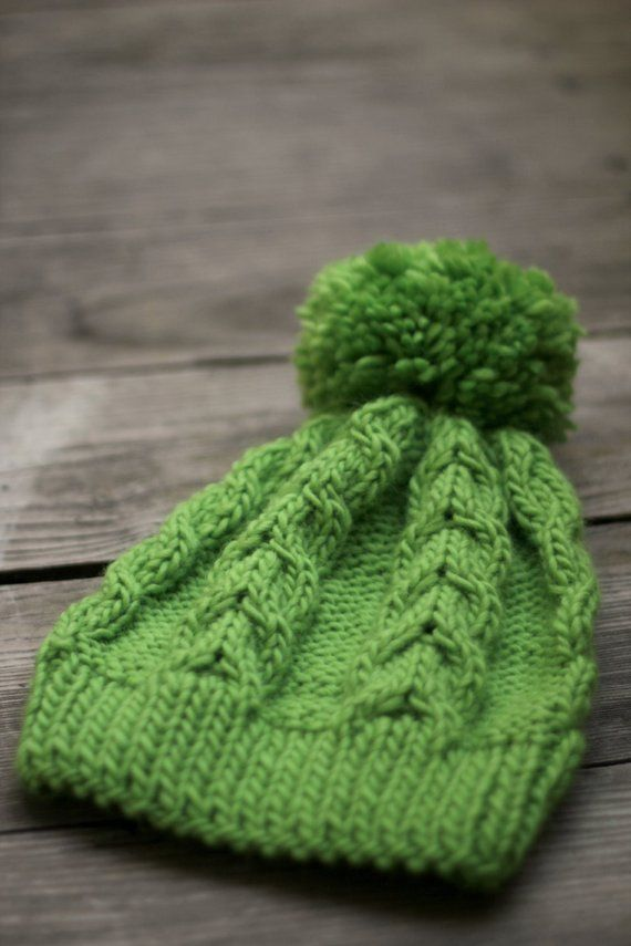 5a165106d57 Knit hat green hat women hat knitted hat cable hat lime