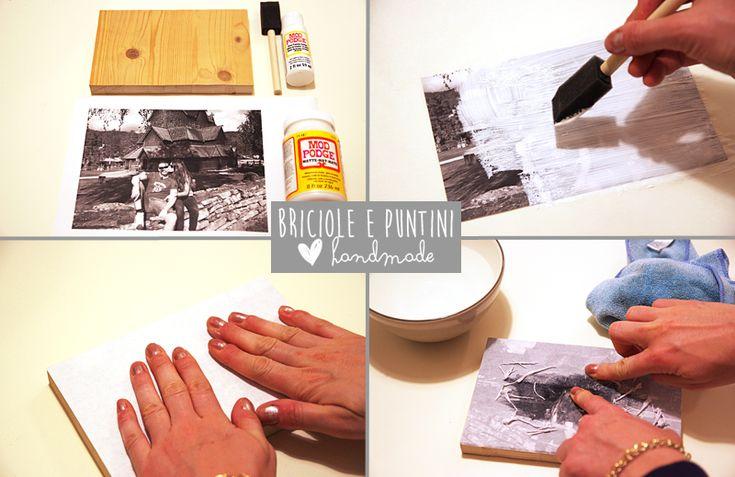 Come trasferire una foto su legno