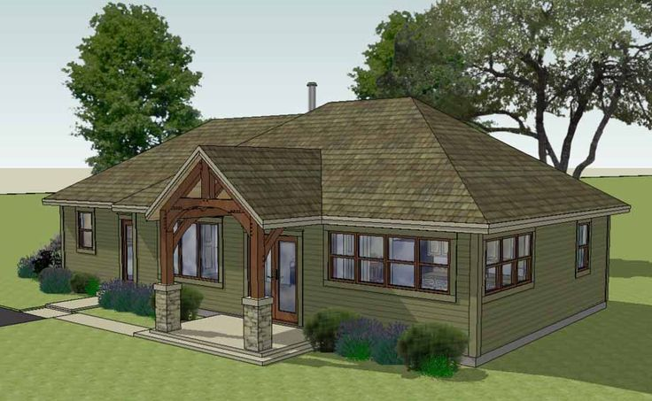 The Brison Newcomb with Hip Roof, 1370 sf | Arlington Timber Frames